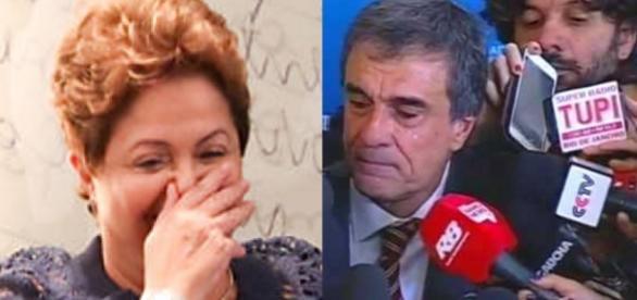 Dilma e Cardozo - Foto/Montagem