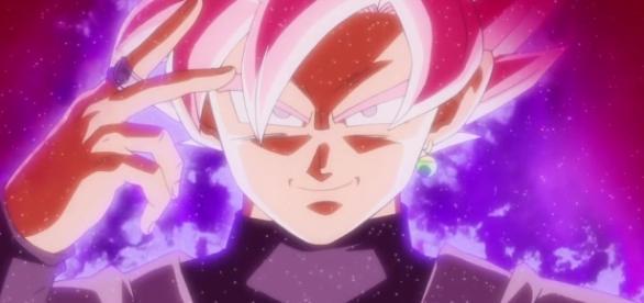 Goku Black, dévoilant le Super Saiyan Rosé.