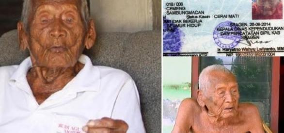 Imagens do homem considerado o mais velho do mundo