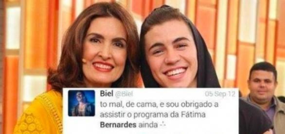 Fátima Bernardes critica o cantor Biel