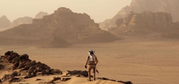 Matt Damon é o protagonista de 'Perdido em Marte', principal atração do TC Premium em agosto. (Foto: Divulgação FOX Filmes)