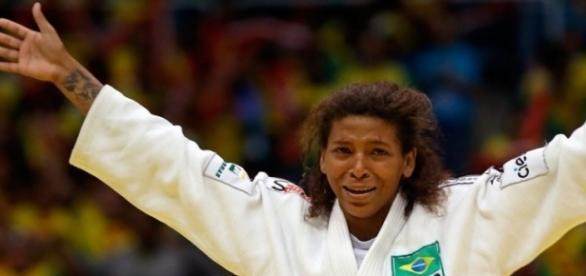 Rafaela Silva, ganhadora da 1ª medalha de ouro do Brasil nas Olimpíadas do Rio.
