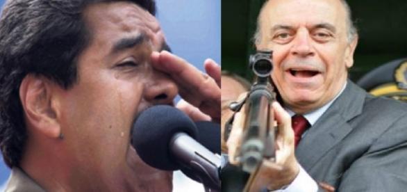 Maduro e José Serra - Foto/Montagem