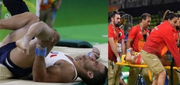 Ginasta tem fratura na perna na Olimpíada