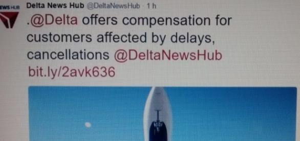 Delta ofrece una compensación a los usuarios afectados por demoras o cancelaciones.