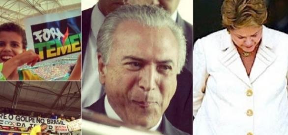 Dilma e a lei anti-protesto - Foto/Montagem