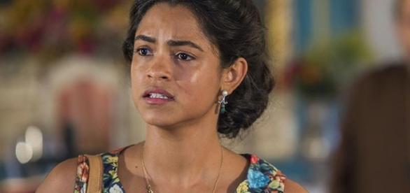 Luzia conta que Olívia é filha de estuprador (Divulgação/Globo)
