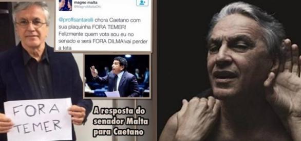 Caetano Veloso se dá mal e ouve que vai perder teta