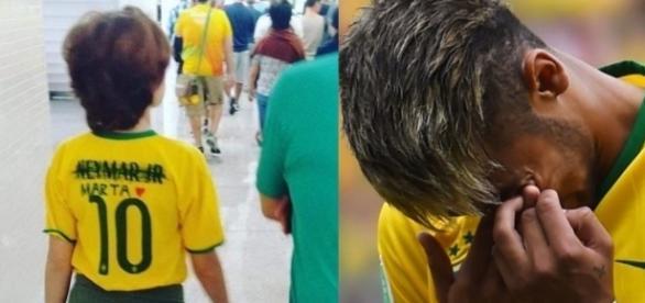 Camisa de Neymar é riscada após vexame