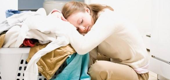 Mulheres atarefadas e cansadas