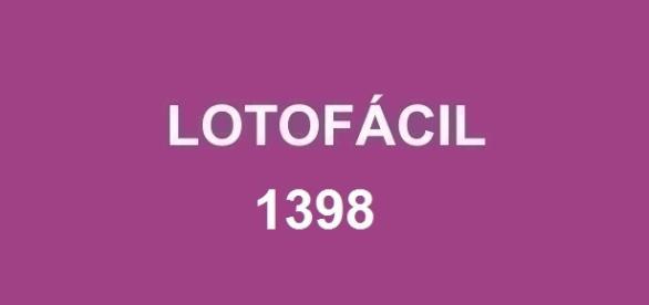 Resultado da Lotofácil 1398 divulgado pela CAIXA