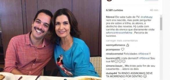 Fátima Bernardes e produtor - Foto/Reprodução
