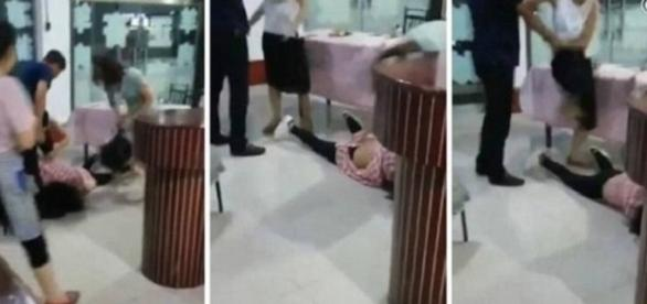 Suposta amante é espancada por esposas em restaurante