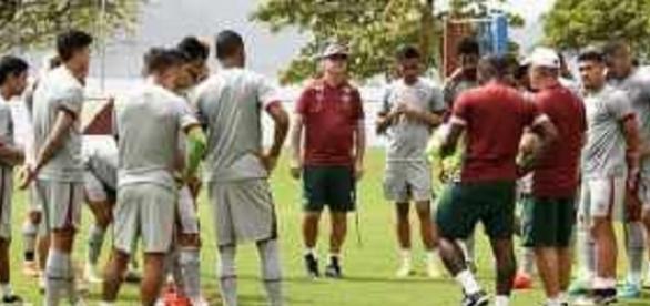 Buscando se manter na luta pelo G-4, Fluminense trabalha na Urca para encarar o Atlético-MG (Foto: Net Flu)