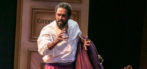 Ira Aldridge (a volcanic Lindsay Smiling), as Shakespeare's Othello. Photo: Jerry Dalia, The Shakespeare Theatre of New Jersey, used with permission.