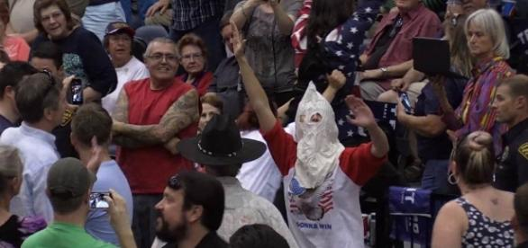 Man in Klan Outfit Disrupts Trump Rally - NBC News - nbcnews.com