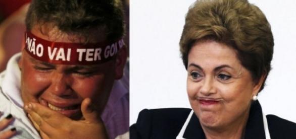 Manifestante petista e Dilma Rousseff - Foto/Montagem
