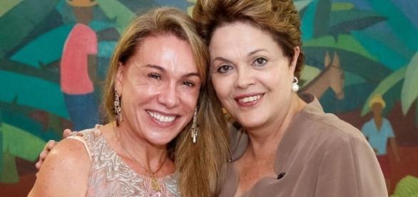 Prefeita Teresa ao lado da ex-presidente Dilma (Foto: Roberto Stuckert Filho/PR)