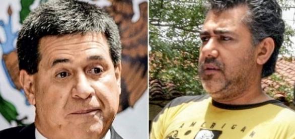 Horácio Cartes e Jarvis Pavão (Foto:Henry Romero/Reuters/Andrés Cristaldo/EFE)