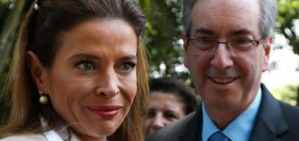 Claudia Cruz e Eduardo Cunha conversaram com Roberto Cabrini