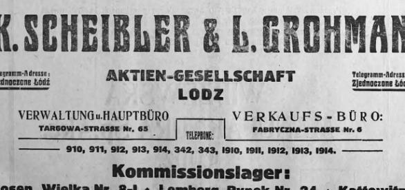 Die Scheibler-Familie war die wichtigste und reichste Industriellen-Famille in Łódź (Lodsch). Public domain.