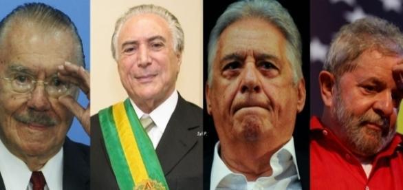 Sarney, Temer, FHC e Lula confirmaram presença no evento (Foto: Reprodução)