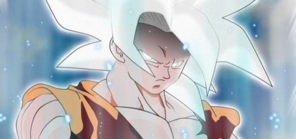 Goku en Super Saiyajin White o Super Saiyajin Divine Blanc