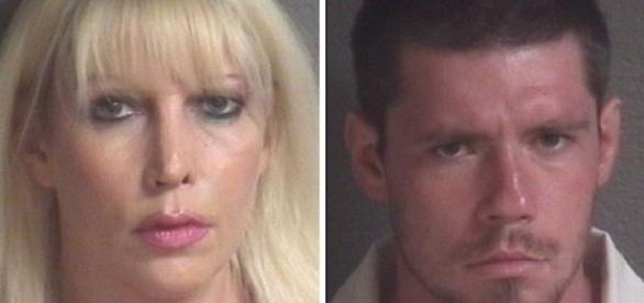Imagens de mãe e filho que acusados de incesto.