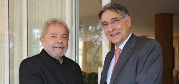 O ex-presidente Lula e o governador de Minas, Fernando Pimentel