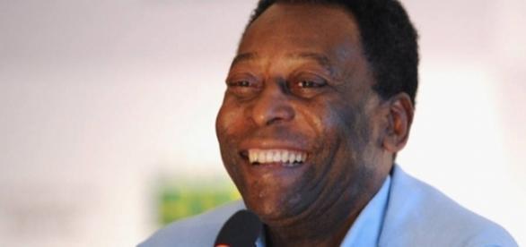 Pelé, o maior jogador de todos os tempos.