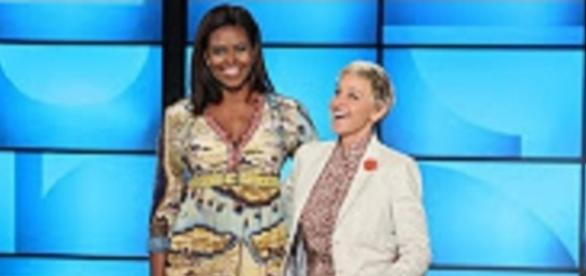 "Youtube still from The Ellen Show:""First Lady Michelle Obama Co-Hosts with Ellen!"""