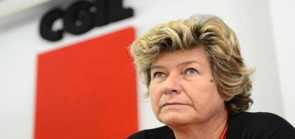 Il segretario della Cgil Susanna Camusso.