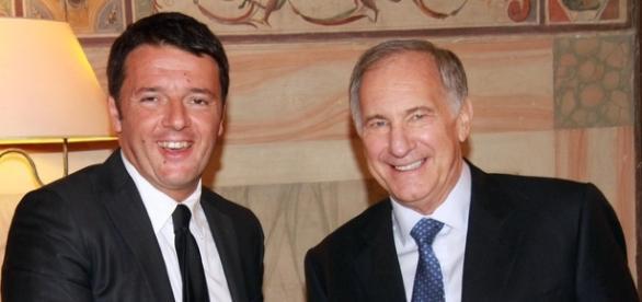 L'ambasciatore Usa John Phillips e Matteo Renzi.
