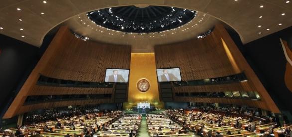 La sala dell'Assemblea Generale delle Nazioni Unite