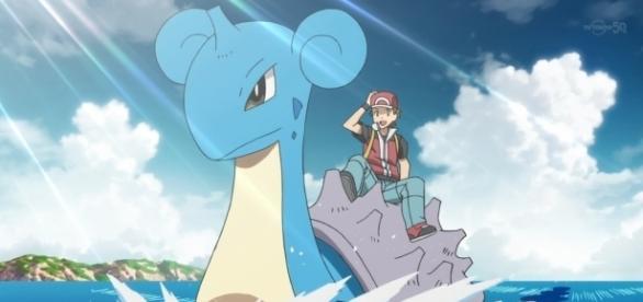 Lapras, Pokemon de la primera temporada de la serie Pokémon, posee ataques muy fuertes poderes como frío polar o rayo de hielo.