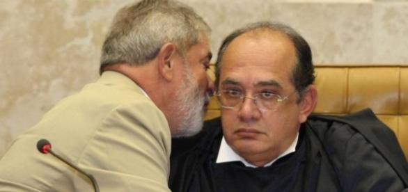 Lula e Gilmar Mendes - Imagem do Google
