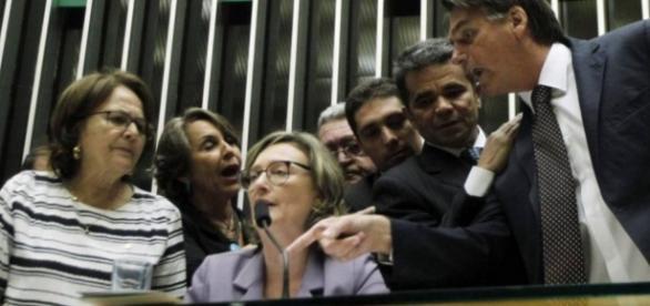 Maria do Rosário e Jair Bolsonaro