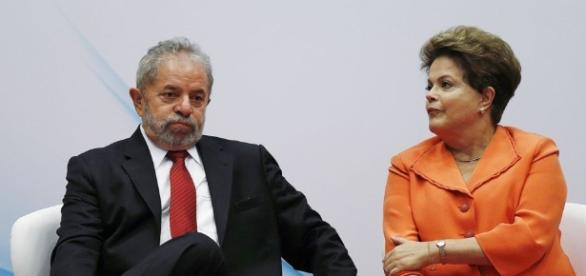 Ex-presidentes Lula e Dilma Rousseff