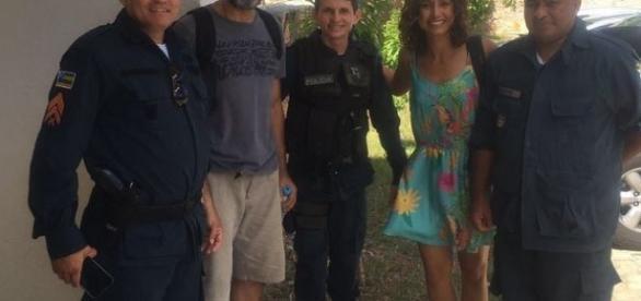 Foto tirada momentos antes de Ator desaparecer no Rio São Francisco