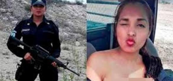 """Nidia García, la policía que posa en """"topless"""""""