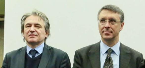 Raffaele Cantone e l'ad Rai Antonio Campo Dall'Orto