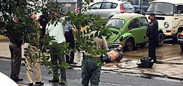 Alleged image of Chelsea Explosion suspect Ahmad Khan Rahami arrested in Linden NJ Tweeter
