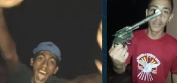 Traficantes aparecem em um vídeo apreendido pela polícia