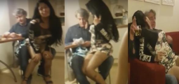 Alexandre Borges e travesti aprontam todas - Imagem/Google