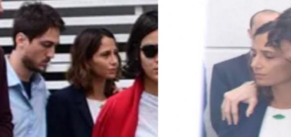 Camila Pitanga chega a velório de amigo