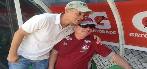Com apoio de presidente Peter Siemsen, Levir Culpi encerra preparação do Fluminense para domingo (Foto: Globoesporte)
