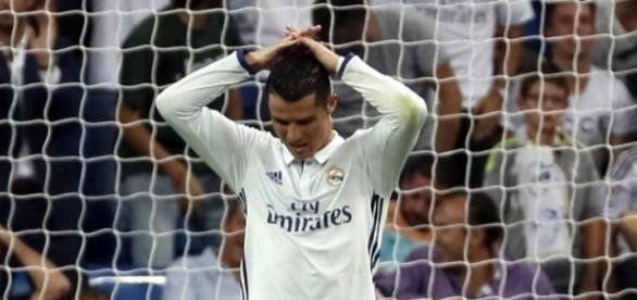 Cristiano Ronaldo se desespera ante el Villarreal