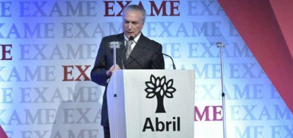 Michel Temer rebateu críticas e falou sobre a economia (Flávio Santana/Biofoto)