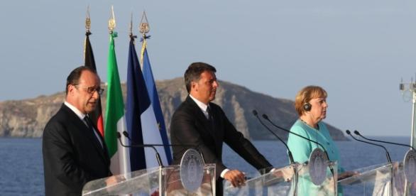 Renzi, Merkel e Hollande: addio spirito di Ventotene