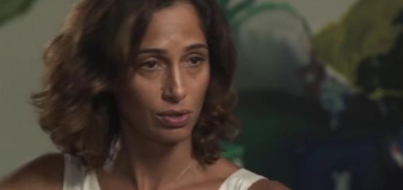 Camila Pitanga em entrevista ao Fantástico